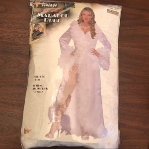 Marabou Robe Old Hollywood Halloween Costume